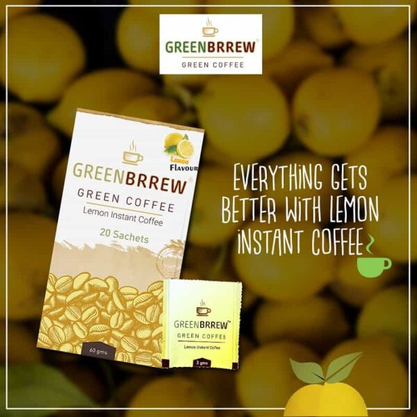 Buy Greenbrrew - Instant Lemon Green Coffee - 60g Online