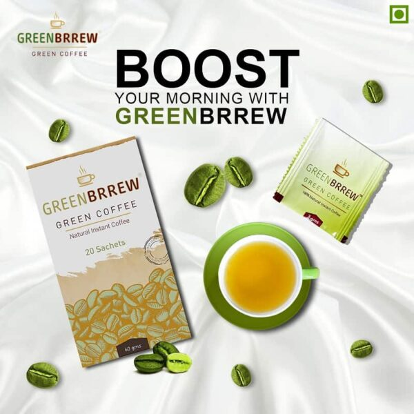 Buy Greenbrrew - Natural Instant Green Coffee - 50g Online