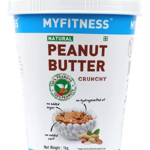 Shop MYFITNESS - Natural Crunchy Peanut Butter - 1kg (High Protein | High Fiber) Online