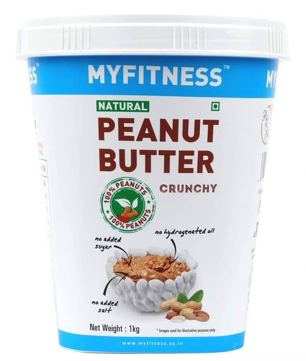 Buy MYFITNESS - Natural Crunchy Peanut Butter - 1kg (High Protein | High Fiber) Online
