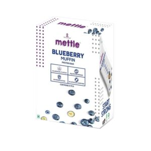 Shop Mettle - Gluten Free Blueberry Muffin Protein Bar (Pack of 6) - 360g Online