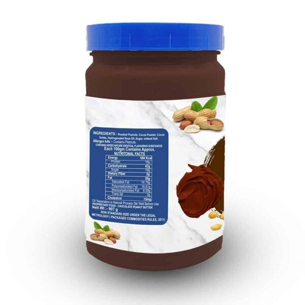 Buy Mettle - Gluten Free Dark Chocolate Peanut Nut Butter - 907g Online
