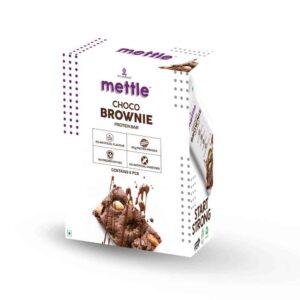 Shop Mettle - Choco Brownie Protein Bar (Pack of 6) - 360g (Gluten Free) Online