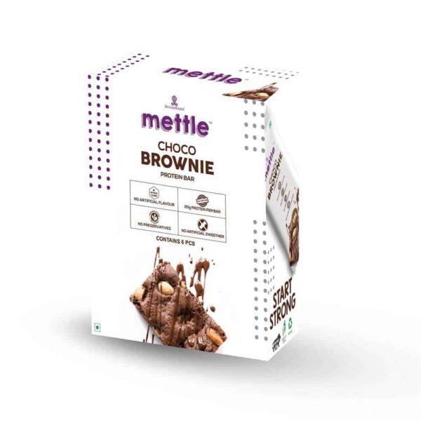 Buy Mettle - Gluten Free Choco Brownie Protein Bar (Pack of 6) - 360g Online