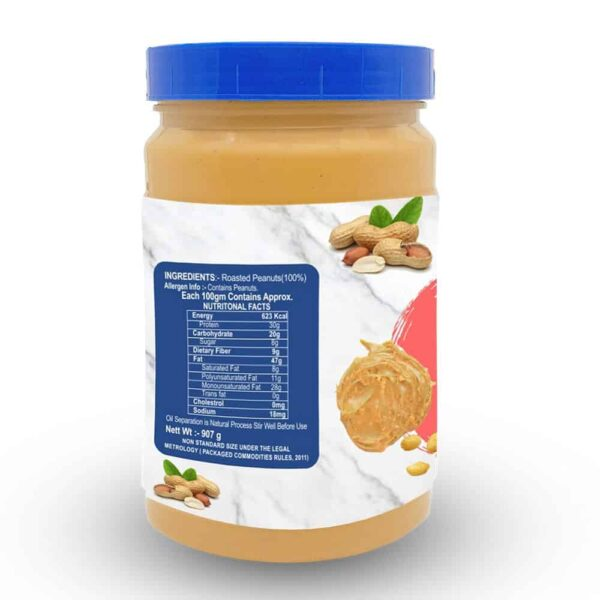Buy Mettle - 100% All Natural (Crunchy) Peanut Nut Butter - 907g Online