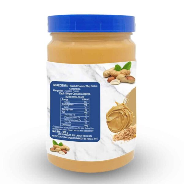 Buy Mettle - (Added Whey Protein) Peanut Butter - 907g (High Protein) Online