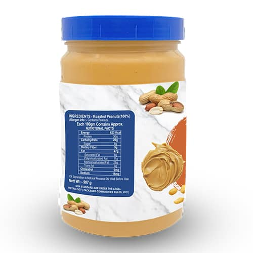 Buy Mettle - Creamy (Smooth) Peanut Butter - 907g (100% Natural) Online