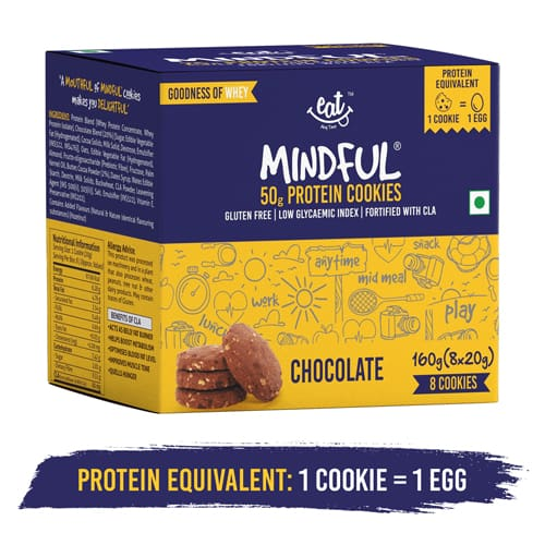 Buy EAT Anytime - Chocolate Protein Cookies (Pack of 8) - 160g (Gluten Free) Online