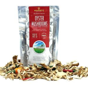 Shop Woodberry – High in Vitamin D Enhanced Dehydrated Oyster Mushrooms – 50g Online