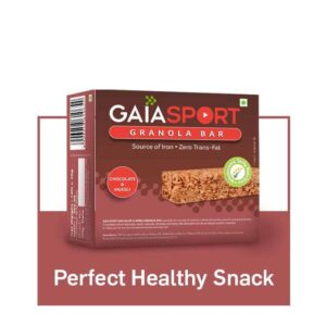 Shop Gaia Organics - Chocolate and Muesli Granola Snack Bar - 30gm. Online