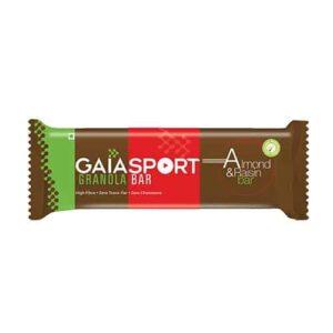 Shop Gaia Organics - Wholesome Nutritious Almond & Raisin Snack Bar - 30g Online