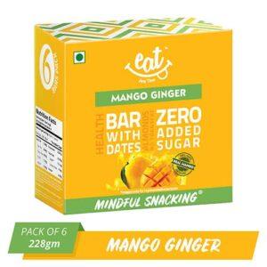 Shop EAT Anytime -  Healthy Mango Ginger Energy Bars (Pack of 6) - 228g Online