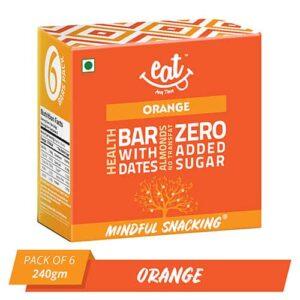 Shop EAT Anytime - Healthy Orange Energy Bars (Pack of 6) - 240g Online