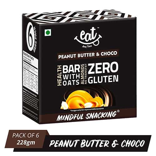Buy EAT Anytime - Peanut Butter with Chocolate Energy Bars (Pack of 6) - 228g Online