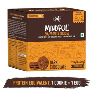 Shop EAT Anytime - Dark Chocolate Protein Cookies (Pack of 8) - 160g (Gluten Free) Online