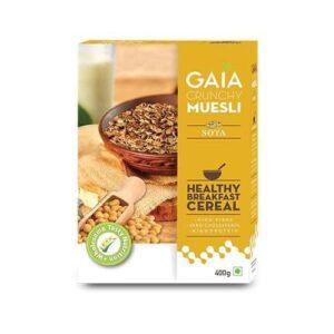 Shop Gaia Organics - High Fibre Soya Crunchy Muesli - 400g Online