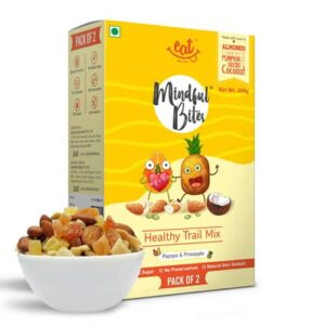 Shop EAT Anytime - Papaya & Pineapple with Dry Fruits & Nuts Healthy Trail Mix (Pack of 2) - 200g Online