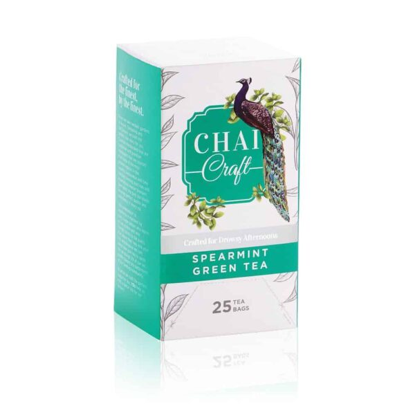 Buy Chai Craft - Spearmint Green Tea (25 Tea Bags) - 45g (Herbal Green Tea) Online