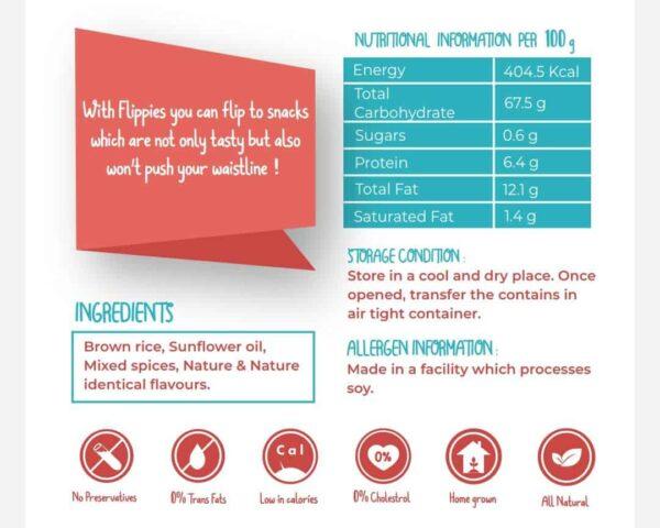Buy Flippies - Chiptole Brown Rice Pop Chips - 30g (Gluten Free) Online