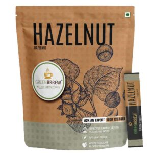 Greenbrrew Hazelnut Instant Green Coffee