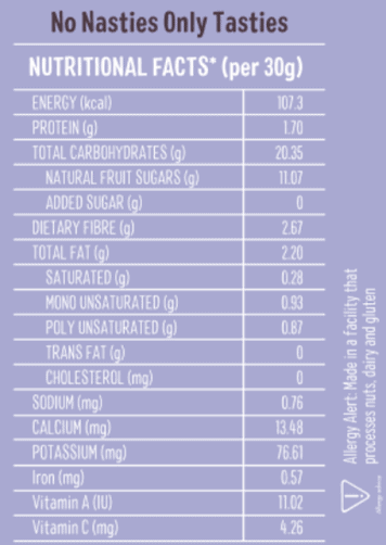 Buy Timios - Berry Energy Bar - 120g (100% Natural) Online