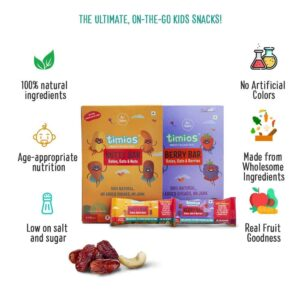 Shop Timios - Nutty + Berry Energy Bars Combo - (2x120g) - (100% Natural) Online