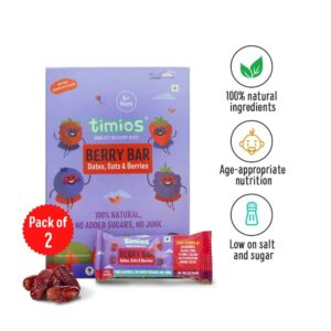 Shop Timios - 100% Natural Berry Energy Bars Pack of 2 - (2x120g) Online