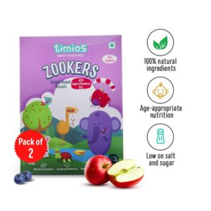 Shop Timios - 100% Natural Zookers Apple & Blueberry Cookies Pack of 2 - (2x150g) Online