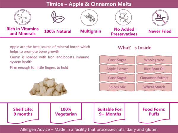 Buy Timios - Zookers Apple & Blueberry Cookies - 150g (100% Natural) Online
