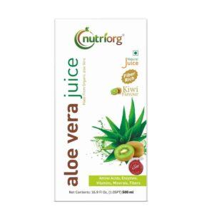 Shop Nutriorg - 100% Natural Aloevera Kiwi Juice - 500ml Online