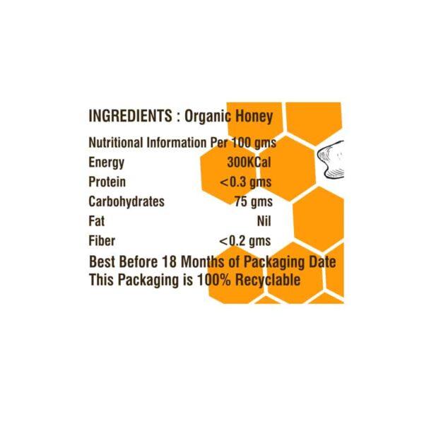 Buy Nutriorg - High Altitude Honey - 250g (Certified Organic) Online