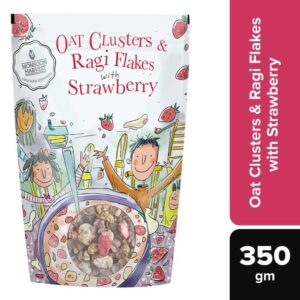 Shop Monsoon Harvest - Oat Clusters & Ragi Flakes with Strawberry - 350g (100% Natural) Online