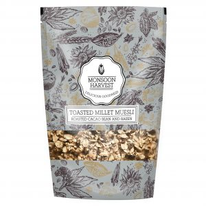 Buy Monsoon Harvest - High Fiber Roasted Cacao Bean and Raisin Toasted Millet Muesli - 250g Online