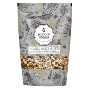 Monsoon Harvest Roasted Cacao Bean & Raisin Toasted Millet Muesli