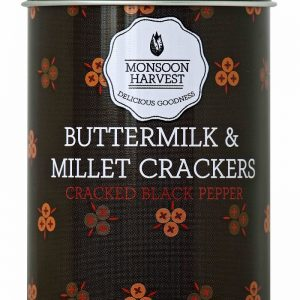 Shop Monsoon Harvest - Cracked Black Pepper, Buttermilk & Millet Crackers - 100g (Baked) Online