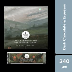 Shop Monsoon Harvest - Gluten Free Dark Chocolate & Espresso Crunchy Granola Bars (Pack of 6) - 240g Online