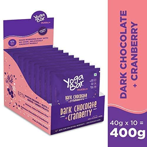 Yoga Bar Dark Chocolate + Cranberry Muesli