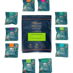 Shop TGL - Green Tea Sampler, Tea Assortment of 10 Teas Bags - 30g (100% Natural Ingredients   No Artificial Flavoring) Online