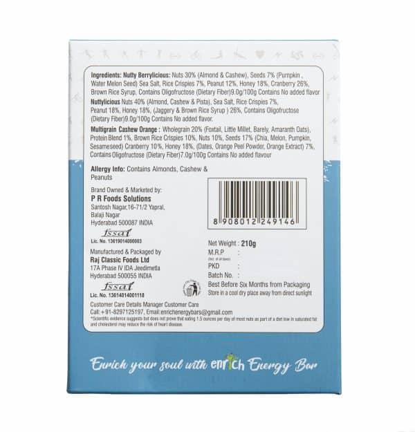 Buy Enrich - Assorted Energy Bars (35g x 6) - 210g (Gluten Free | NON GMO) Online