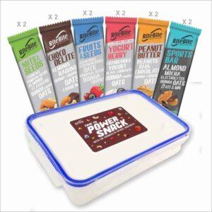 Shop RiteBite - Assorted Snack Bars (Pack of 12) - 450g (Nutrition Tiffin) Online