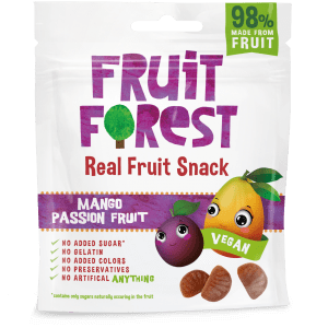 Buy Fruit Forest - Mango Passion Real Fruit Gummy Snacks - 30g (100% Natural | Vegan) Online