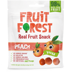 Buy Fruit Forest - Peach Real Fruit Gummy Snacks - 30g (100% Natural | Vegan) Online