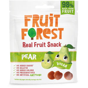 Shop Fruit Forest - Pear Real Fruit Gummy Snacks - 30g (100% Natural | Vegan) Online