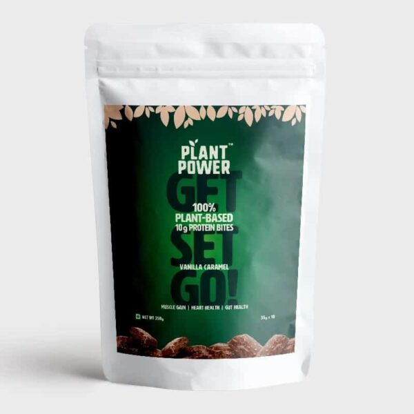 Plant Power vanilla caramel bites