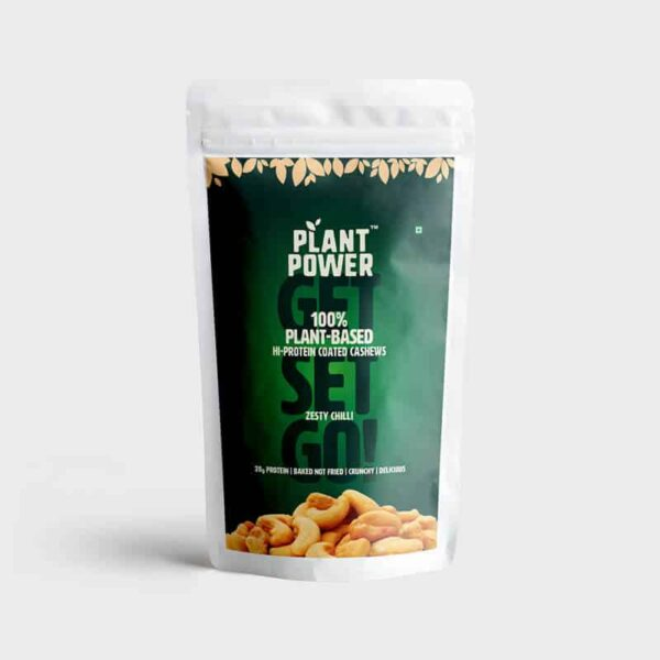 Buy Plant Power - Hi-Protein Coated Cashews - Zesty Chilli - 500g Online