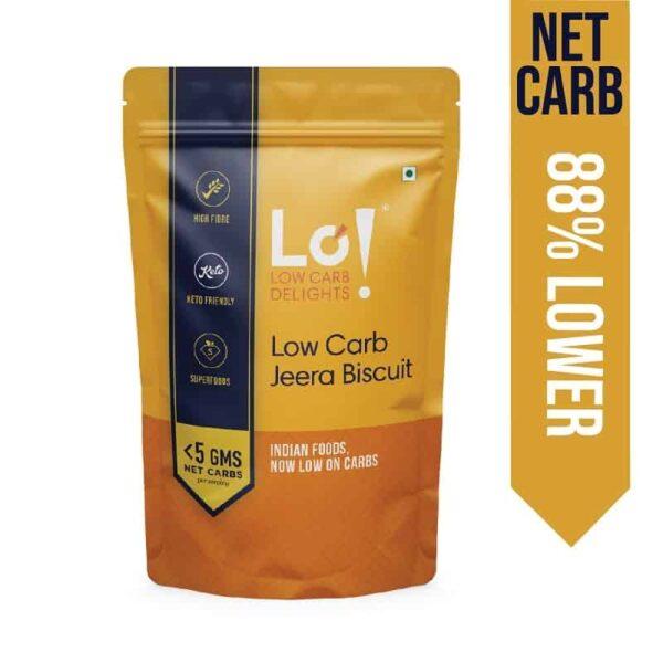 Lo! Foods Low Carb Jeera Biscuit 96g