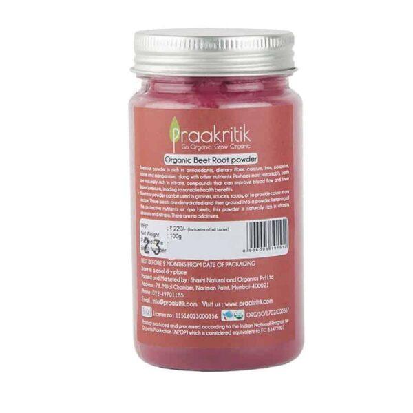 Buy Praakritik - Beet Root Powder - 100g (100% Natural) Online