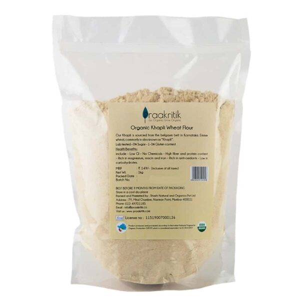Buy Praakritik - Khapli Atta - 1kg (100% Organic) Online