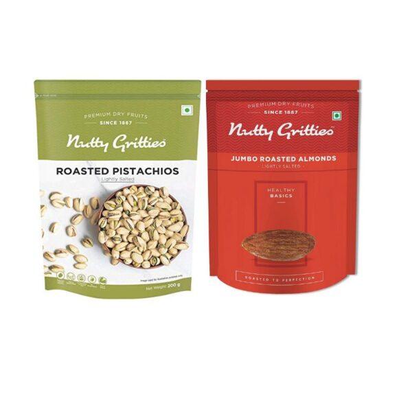 nutty-gritties-jumbo-roasted-pistachios-jumbo-roasted-almonds-200g-combo-pack-of-2