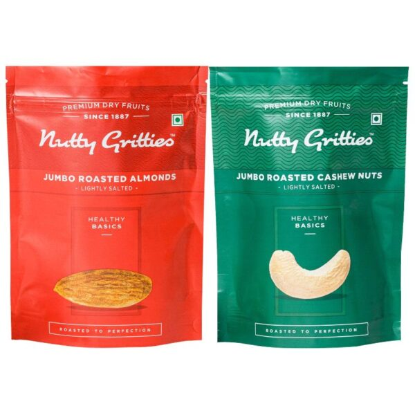 nutty-gritties-roasted-almonds-200g-jumbo-roasted-cashews-200g-combo-pack-of-2